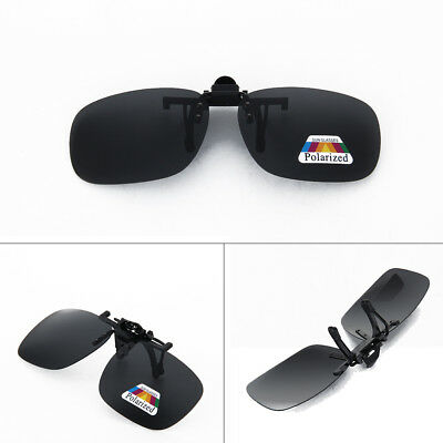 New Polarized Lenses Flip-Up Clip On Sunglasses UV400 Driving Outdoor Glasses UK