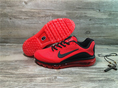 NIKE AIR MAX 2017 Men's Running Trainers Shoes Red and black