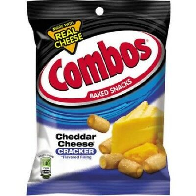 Combos Cheddar Cheese CRACKERS 178g 6.3oz (American Snack)