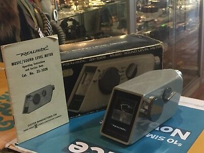 Realistic (33-1028) Music / Sound Level Meter In Box !!