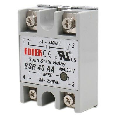 Solid State Relay SSR-40 AA AC to AC 40A 80-250VAC 24-380VAC