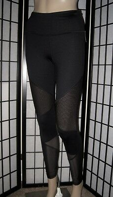 Nwt Victoria's Secret Sport Black Perforated Mesh Knockout Tight Yoga Leggings