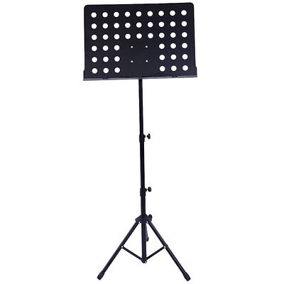 Orchestral Sheet Music Stand Heavy Duty Conductor Foldable Adjustable Tripod Bas