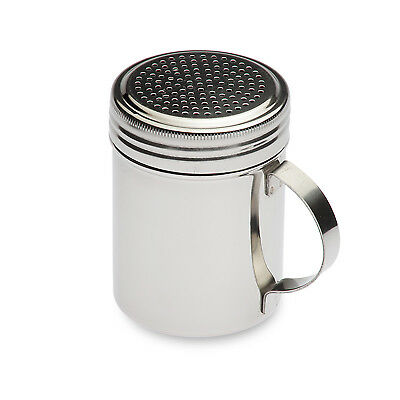 NEW Stainless Coco Cappuccino Chocolate Shaker with perforated holes and handle