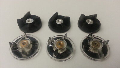 6x Rubber Base gear replacement spare part for Magic Bullet (cross/flat)