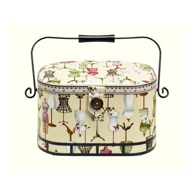 Prym 612250 | Dressform Print Sewing Basket | 30 x 20½ x 19cm