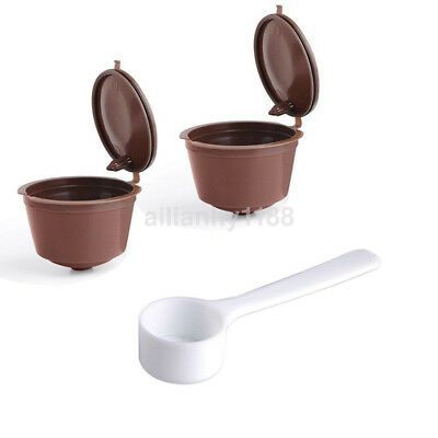 New 4pc Refillable Coffee Capsules Reusable For Dolce Gusto Pods Cup Filter AU