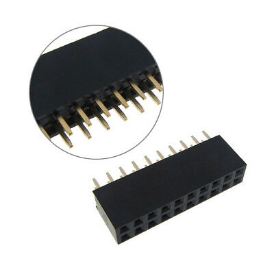"""2x10 Position Female Socket Header Connector 0.1"""" 2.54mm - QTY(5)"""