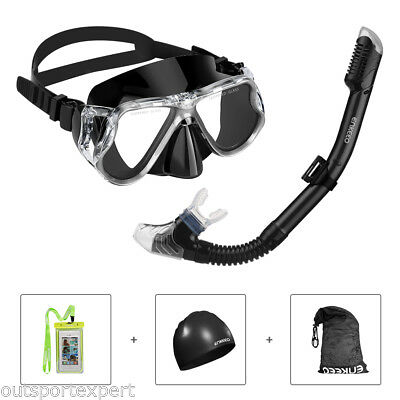 New Snorkel Mask Gear Scuba Diving Swimming Goggles Dry Snorkeling Set for GoPro