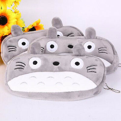 Kawaii Totoro Plush Cartoon Pencil Case Kids Cosmetic Pouch Pen Bag Study Gift