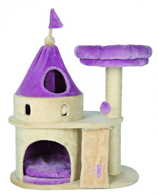 Trixie My Kitty Darling rayer Castle, 90cm, Beige/lilas