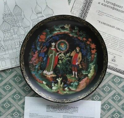 The Stone Flower, Pushkin Tales  Russian tales Plate Vinogradoff Porcelain gift