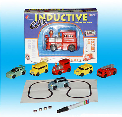 A+Follow Any Drawn Line Magic Pen Inductive Toy Car Bus Model Include Battery UK