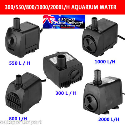 300/550/800/1000/2000L/H Submersible Aquarium Water Pump Pond Fountain Fish Tank