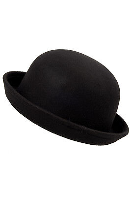 Fashion Black Women Vogue Vintage Cute Trendy Bowler Derby Hat Cloche 56-57cm