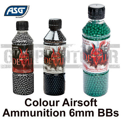 ASG Blaster Devil Airsoft 6mm BBs Coloured Heavyweight, 0.20 0.25 0.40 0.43 BB