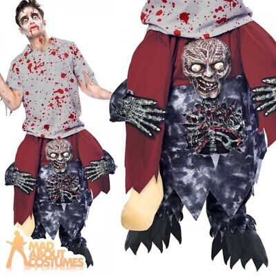 Adult Ride On Zombie Costume Halloween Piggy Back Fancy Dress Piggyback Outfit