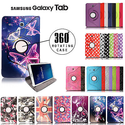 Leather Skin Case for Samsung Galaxy Tab A 9.7 SM-T550/Tab A/ E Flip Stand Cover