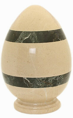 Adult Cremation urn for Ashes Marble Stone Funeral Memorial indoor Egg Shape