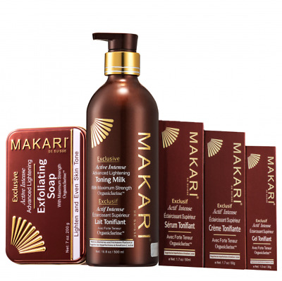 Makari Exclusive Active Lightening Toning Milk/Soap/Gel/Cream/serum