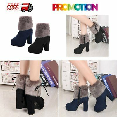 Female Martin Boots High Chunky Heels Shoes Boots With Waterproof Platform GT