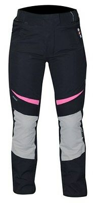 RST 1783 Gemma Ladies Womens Motorcycle Textile Trousers Black Pink Knee Armour