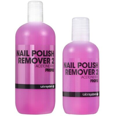 Salon System Profile Nail Polish Remover 2 Acetone Free Pink Nails Cleaner