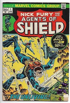 Nick Fury And His Agents Of Shield # 1 Vg 1973