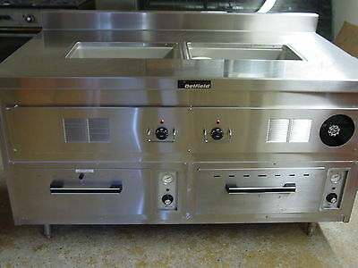 Delfield custom foodwarmer pan and dual drawer unit