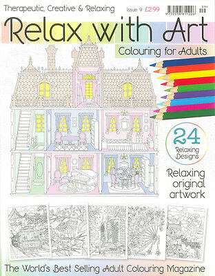 Relax With Art Issue 9 Adult Colouring Book