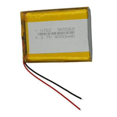 Rechargeable Polymer Li-ion battery Lipo 3.7V 4000 mAh for ipod Tablet PC 965068