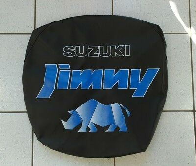 Genuine Suzuki JIMNY Soft Leather Spare Wheel Cover Black BLUE RHINO 99006-83503