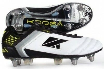 (Size 9, White/Black/Lime) - Kooga Men's Mirage LCST Boots. Shipping Included