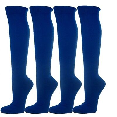 (Large, Royal Blue) - Knee High Premium Quality Sports Athletic Baseball