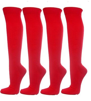 (Large, Red) - Knee High Premium Quality Sports Athletic Baseball Softball