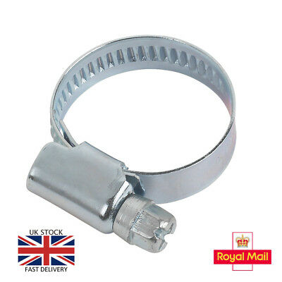 Steel Hose Clips Pipe Clamps All Sizes Jubilee Type BZP W1 DIN3017 Not Stainless
