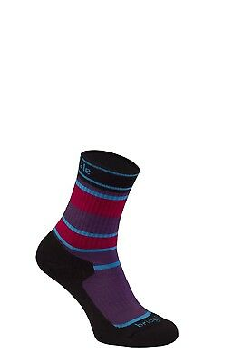 (Size 12 - 1, Purple) - Bridgedale Children's Merinofusion Hiker Socks
