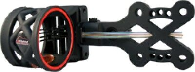 (Black) - Extreme Archery EXR 750 Sight with 4 Pin .019 Rheostat Light