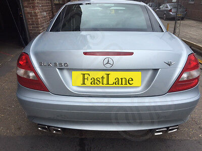 Mercedes SLK Stainless Steel Exhaust Rear Dual System & 63 Style Tips MSLK 11