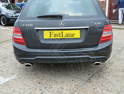 Mercedes C Class Custom Built Stainless Steel Exhaust Cat back Dual System MC11