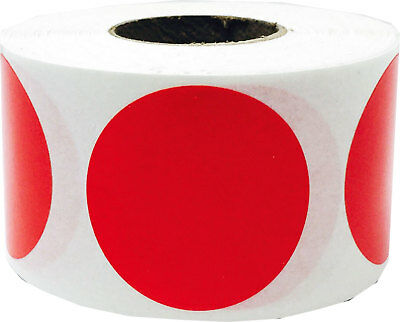 Circle Dot Stickers, 1.25 Inches Round, 500 Labels on a Roll, 39 Color Choices