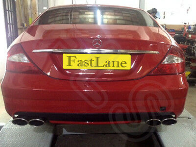 Mercedes CLS Stainless Steel Exhaust Rear Dual System AMG Style Tail Pipes
