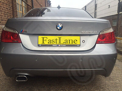 BMW 5 E60 Custom Built T304 Stainless Steel Exhaust Single Back Box B510