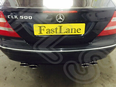 Stainless Steel Exhaust Cat Back System AMG Style Tail Pipes Fits Mercedes