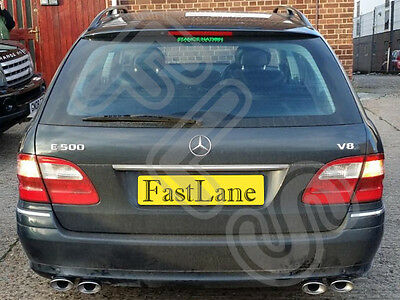 Mercedes E Class Custom Built Stainless Steel Exhaust Cat Back Dual System ME07