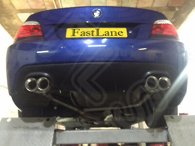 BMW 5 Series Custom Built Stainless Steel Exhaust Rear Dual System & Diffuser 18