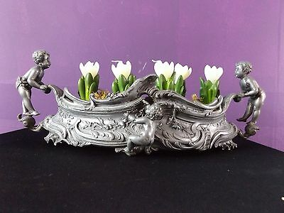 French Lead PLANTER Beautifulornate with cherbus Original piece
