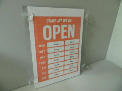 Poster holder with suction cups 1 or 3 window display A4, A3 & A2