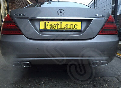 Mercedes Stainless Steel Exhaust Cat Back Dual System & AMG Style Tips 012MCAMG