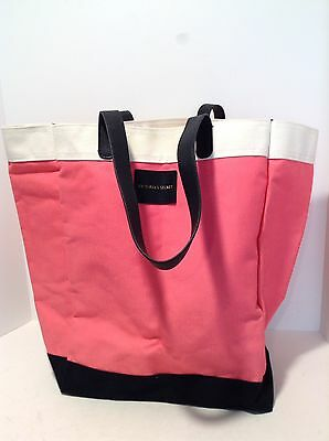 Victoria's Secret Shopping Tote Purse Weekender Beach Gym Bag Pink Black White